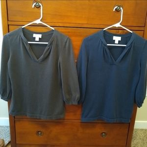 Pair of Great Loft Sweaters